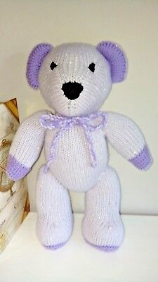 Hand Knitted Crafted Lovely Teddy Bear