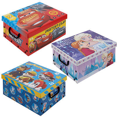 Disney Kids Cardboard Toy Storage Boxes Lids Kids Arts Crafts Box Collapsible