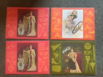 Vintage Coca-Cola Coke Circa Early 1900's  Advertising Placemats Ladies Set Of 4