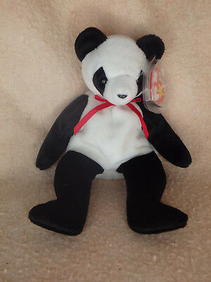 Ty Beanie Baby Fortune Bear - Excellent - Free Shipping