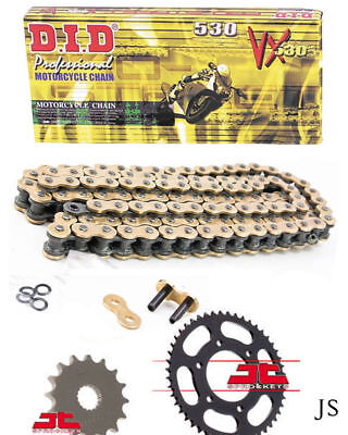 Yamaha FZ1 S,SA,SZ Fazer ABS 2006-2014 DID GOLD VX X-Ring Chain & Sprocket Kit