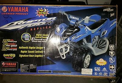 YAMAHA RAPTOR ATV 12-Volt Battery-Powered Ride-On 2 Speed MSRP $299 PICK UP  ONLY