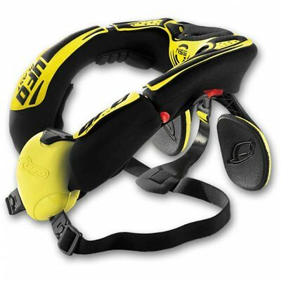 UFO NSS Neck Brace Yellow Motocross MX Adult Enduro BMX ATV Off Road