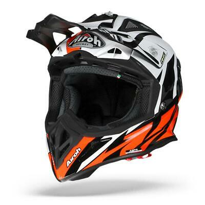 Airoh Aviator 23 Great Orange Brillant Casque Moto Cross Mx