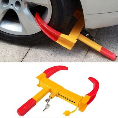 Car Van Caravan Trailer Motorhome Fit Claw Steel Wheel Tyre Clamp Security Lock