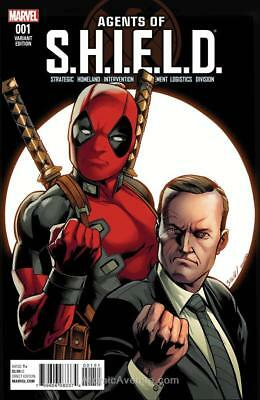 Agents of Shield #1 1:10 Mark Bagley Deadpool Variant Marvel ANAD 2016 Coulson
