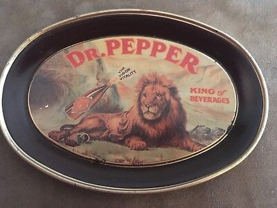 Vintage 1979 Dr. Pepper Lion Tin Tip Tray Fabcraft Usa 6 Inch