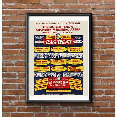 Alan Freed Rock and Roll Concert Event Poster - Kitchener Canada April 11,1958