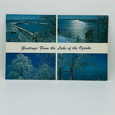 Postcard Missouri Greetings from the Lake of the Ozarks Scenic View Unused C-12e