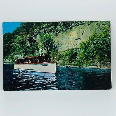 Postcard New York Captain Palmer's Lake Ride Watkins Glen NY Scenic Cruise C-12d