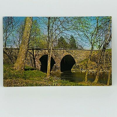 Postcard Old Stone Bridge over Bull Run Manassas Nat'l Battlefield Park VA C-12a