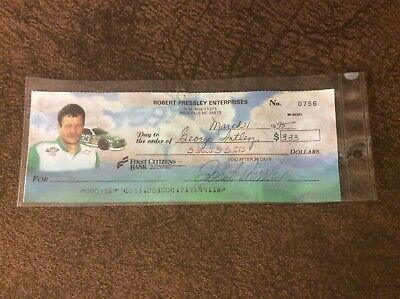Rare Robert Pressley Autographed/Signed Check From 1995