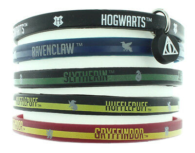 Harry Potter Books House Bracelet Hogwarts School Houses Rubber 5 Pack
