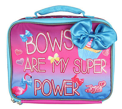 Jojo Lunch Box Soft Kit Insulated Cooler Siwa Bows Are My Super Power