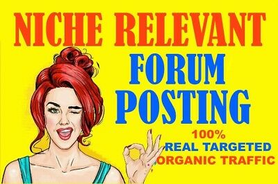 45 Niche Relevant Forum Posting With SEO (100% Dofollow Backlinks)