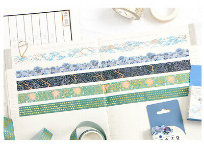 Vergoldene Washi Tape | Masking Tape | Deko Klebeband, Alter Stil, 15mm x 5m