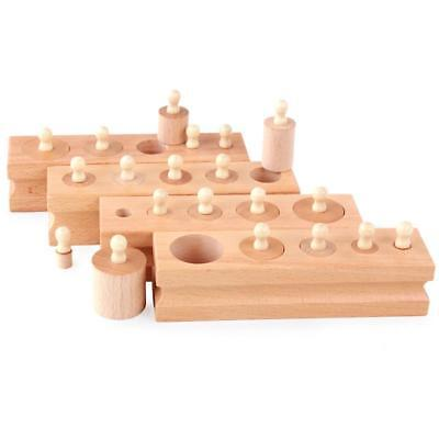 Wooden Toys Early Educational Games Cylinder Socket Blocks Toy Children Baby