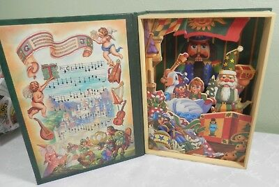"""Animated Christmas Book Music Box Nutcracker """"Parade of the Wooden Soldiers"""""""
