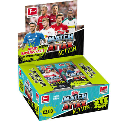 Vorverkauf: Topps Match Attax ACTION 2018/19 - 1 Display (20 Booster) - Deutsch