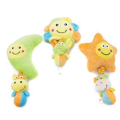 Baby Plush Toy Rattles Stroller Crib Bed Hanging Infant Soft Music Toys Kit 6A