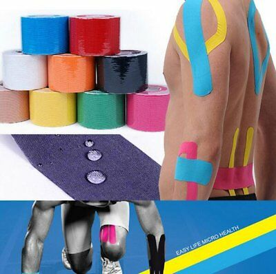 5m x 5cm Kinesiology Sports Muscles Care Elastic Physio Therapeutic Tape ZZ