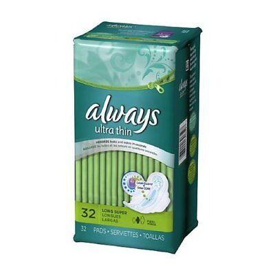 Always Ultra Thin with Wings - long super 32-Count (Pack of 6)