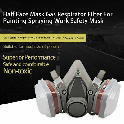 Half/Full Face Respirator Gas Mask & Goggles Chemical Dust proof Fire Paint ZZ