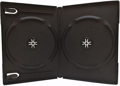10 Standard 14mm Double DVD Cases, Black, holds 2 Disc DVD Cases, WB