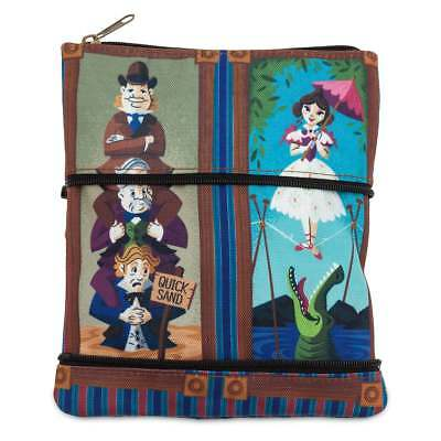 Disney Parks Stretch Paintings Haunted Mansion Zip Pouch New with Tags