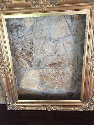 Vintage Wood Picture Art Mirror Frame Gold Extra Large 24 X 30 Victorian Style