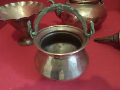 Vintage Solid Copper Mini Cauldron Handle for Hanging Houston Intl Trading