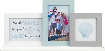 Malden 3 Opening Coastal Ledge Collage Photo Frame One Size Blue/white/grey