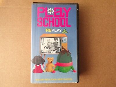 BBC PLAY SCHOOL RePlay (1988) VHS Video Tape, Vintage Retro 1960's  Childrens TV
