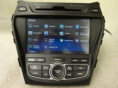 2013-2016 Hyundai Santa Fe OEM GPS NAVIGATION AM FM CD MP3 Bluetooth XM Radio