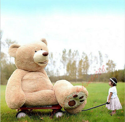 100cm-340cm Great Gift Giant Big Uk Teddy Bear Plush Soft Toys Doll (only Cover)