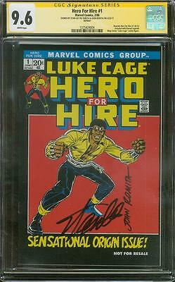 Luke Cage Hero for Hire 1 CGC 2X SS 9.6 Stan Lee John Romita 06 Legends Variant