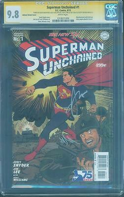 Superman Unchained 1 CGC SS 9.8 4X Snyder Lee Sinclair Nguyen Johnson 75 Variant