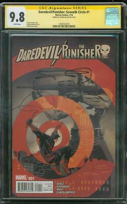 Daredevil Punisher 1 Seventh Circle CGC SS 9.8 Frank Miller Signed Top 1 Cover