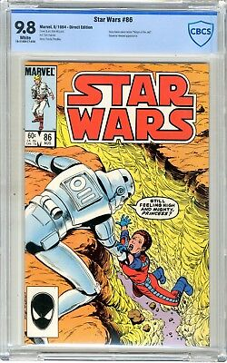 Star Wars  #86   CBCS   9.8   NMMT   White pages   8/84   Direct Edition