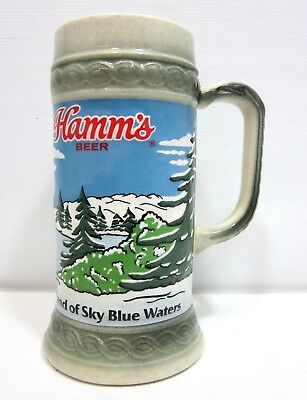 1988 Hamm's Holiday Beer Stein - Refreshing As The Land of The Sky Blue Waters