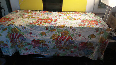 """Strawberry Shortcake Vintage Curtain Circa 1980 Approx 64"""" by 44"""" Good Shape"""