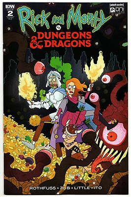 Rick & Morty vs Dungeons & Dragons #2 1:10 RI-A Variant (IDW, 2018) NM
