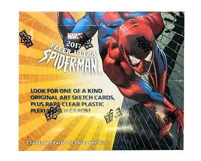 MARVEL TRADING CARDS BOX: Fleer Ultra Spider-Man Hobby Box (Upper Deck 2017)