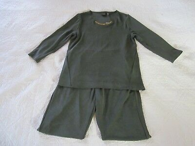 Chicos Womens Top/Tall No Tummy Pant Set Size 1 Fatigue Cross Dye Color