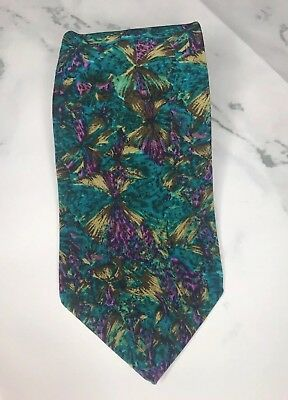 MOLECULAR Expressions by Stonehenge Cocktail Collection Silk tie USA EUC