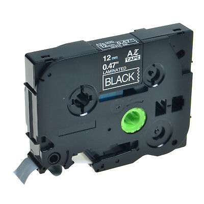 1PK TZ-335 TZe-335 White on Black Label Tape For Brother P-Touch PT-2730 12mmx8m