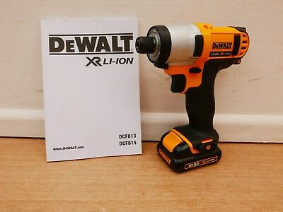 Dewalt Xr Dcf815 10.8V  Impact Driver Bare Unit + Dcb125 1.3 Ah Battery