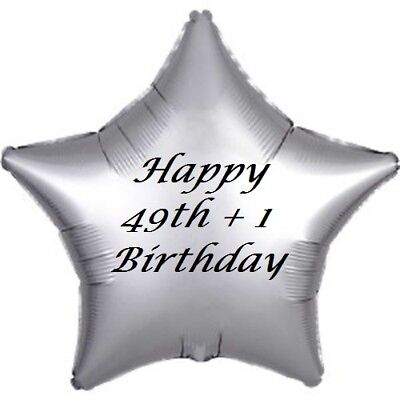 50th 49 + 1 Star Helium Balloon Filled or Unfilled Birthday Gift