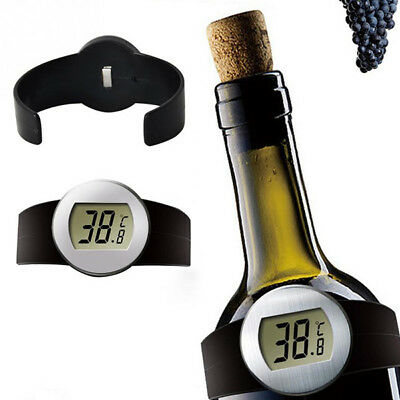 Electric LCD Temperature Meter Red Wine Beer Precise Thermometer Stainless Steel