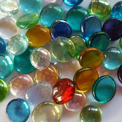 Colour Mix Glass Gem Fairy Wishing stone 20pcs